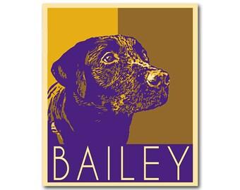 Custom dog political portrait - Custom Pop Art portrait - your picture personalized