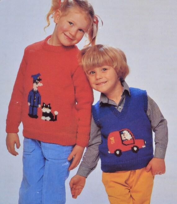 Pdf postman pat knitting pattern instant pdf download sweater pdf postman pat knitting pattern instant pdf download sweater jumper pattern only pdf 1980s dt1010fo