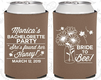 Floral Bachelorette Party Gifts, Personalized Bachelorette Gift ideas, She found her Honey, Bride to Bee, Bachelorette Gift (60152)