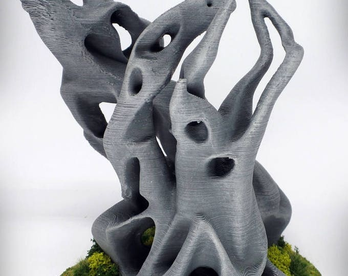 "Wargame Terrain - Pyre (""Ghost Stones"") – UNPAINTED kit - Miniature Wargaming & RPG terrain - 6 inches (large version) / 5 inches (small)"
