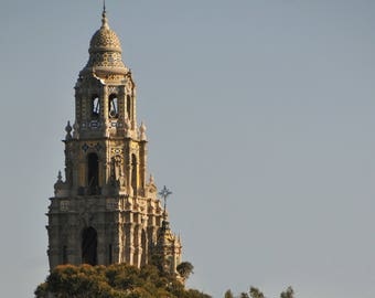 California Tower Photo, Museum Of Man, Balboa Park, San Diego, Architecture, Wall Art, Photo Art, Photographic Decor,