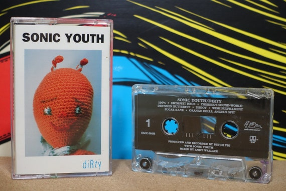 Dirty by Sonic Youth Vintage Cassette Tape