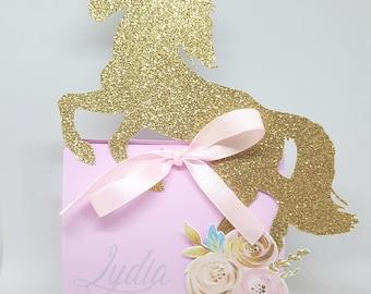 Box of candy sweets - Unicorn-pink-anniversary-child-gold-glitter
