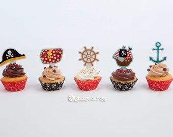 Ahoy There Pirate Themed Cupcake Kit