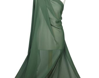 Premium Quality Plain Khaki Chiffon Soft Polyester Sheer Fabric Dress Bridal Material CH01