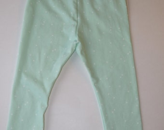 Mint with Ivory Dot Leggings