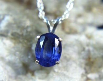 KYANITE - Royal Blue Kyanite .925 Sterling Silver Necklace! Free Shipping!