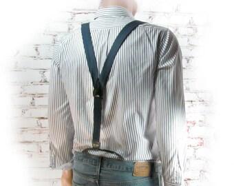 silk suspenders - suspenders, men's braces, navy suspenders, men's adjustable suspenders - wedding suspenders -   # 109