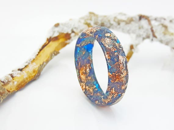 how to make faceted resin rings