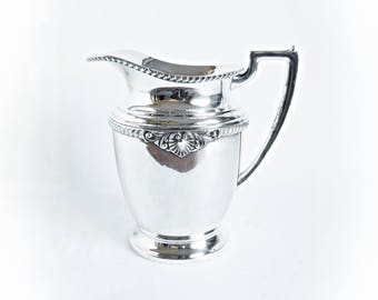 Vintage Silver Pitcher, Art Deco Era, Carson Pirie Scott & Co., Quadruple Plate, Ornate Silver Water Pitcher, Beverage Pitcher