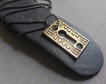Bronze Vintage Keyhole Necklace, Steampunk Unisex Industrial Escutcheon Necklace, Mens Keyhole Necklace, Mens Womens Keyhole Pendant