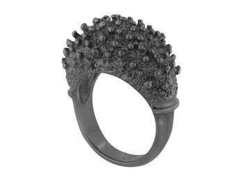 Black Spiky Ring