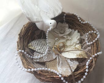 Ring Bearer Pillow Alternative Birds Nest