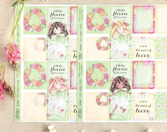 The Flowers of Tomorrow ~ Customizable Planner Sticker Kit 6 Sheets - For Erin Condren Vertical, Happy Planner, A5 sized planner, Dokibook..