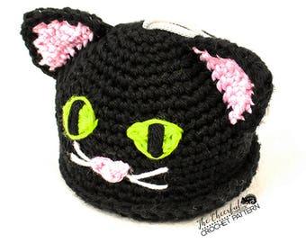 Cat Crochet Pattern - Cat Bath Toy Pattern - Bath Scrubby Pattern - Crochet Kittin - Kitten Amigurumi - Cat Amigurumi