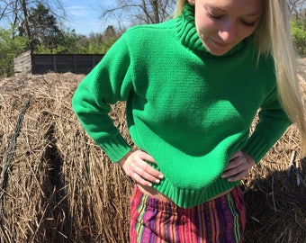 Small GAP cropped cotton turtleneck