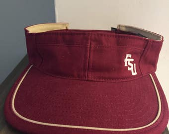 Vintage Florida State Seminoles Visor Hat