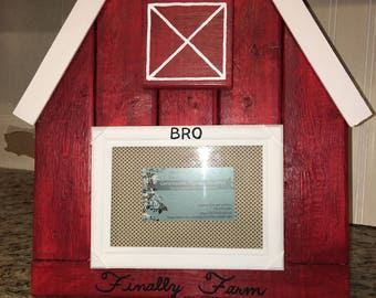 Barn picture frame with glass
