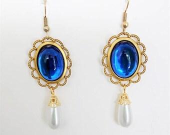 Renaissance Necklace Earrings, Tudor Earrings, Medieval Earrings, Renaissance Jewelry, Tudor Jewelry, The Tudors, U Pick Colors