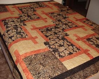 "SALE>>>- Beautiful Handmade Quilt 72"" x 82"""
