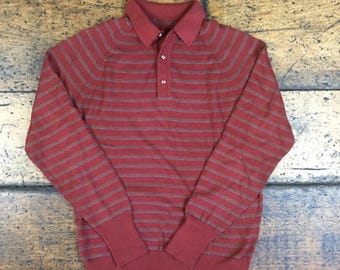 Vintage 90s Striped Long Sleeve Sweater Sz L