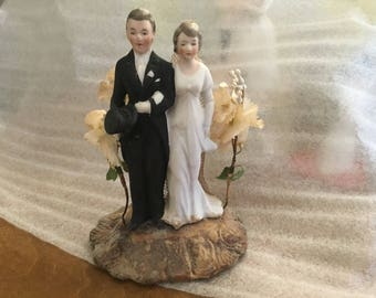 Sale! Antique 1920s Wedding Cake Topper Bisque Best I've Ever Seen!