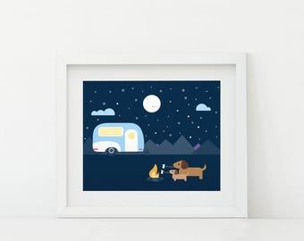 Darby + Dot™ - Glamping Adventure  - Art Print