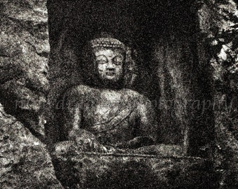 Buddha Wall Art, Black & Grey Asian Art, Buddha Print, Buddha Photography Fine Art Print, Spiritual Art, Zen Decor,Asian Buddha Art,Yoga Art