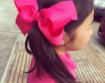 Non Slip)12 Big Hair bow, Twisted Hair bow - (7 inch) Giant  Hair bow set-FREE S/H