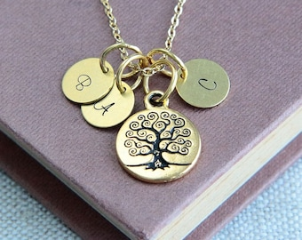 Mother Necklace, Family Tree Necklace, Tree of Life Necklace, Personalized Necklace, Tree of life jewelry, Birthstone gift, Gift for Mother