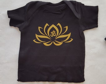 Lotus Flower Ohm 100% Cotton Tee Shirt Sizes NB to 18 months