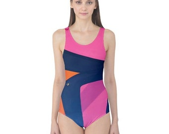Colors One Piece Swimsuit, Stylish, Exotic, and Uniquely Artistic Designed Women's Swimwear, Free Worldwide Shipping, SALE