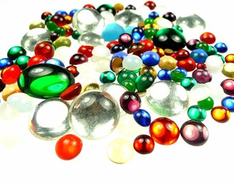Glass stones cabochons merry color mix