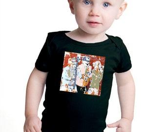 Toddler Jazz T-shirt Phil Durgan Artist Painting on T-shirt Horn Section