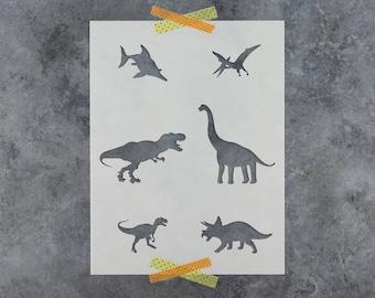 Dinosaur Stencil - Reusable DIY Craft Stencils of a Tyrannosaurus rex (T rex) Dinosaur