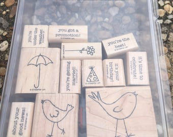 Stampin' Up! stamp set a little birdie told me