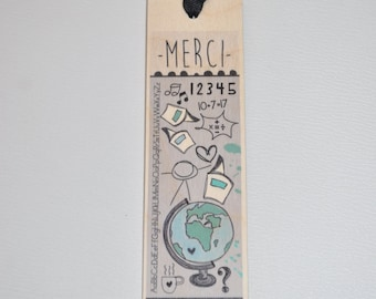Wooden - thank you bookmark just (for teacher