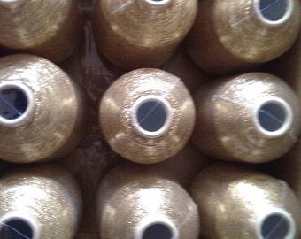 15 spools 7,500 g metallic yarn  Nm 83 gold 83.000 m/kg lurexyarn