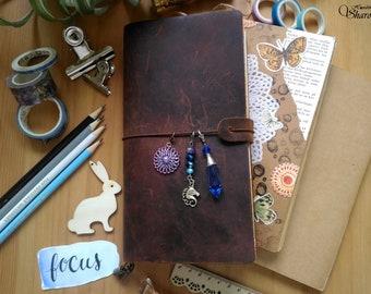 Unicorn planner charm, traveler's notebook charm, midori charm, journal charm, bujo charm, keychain