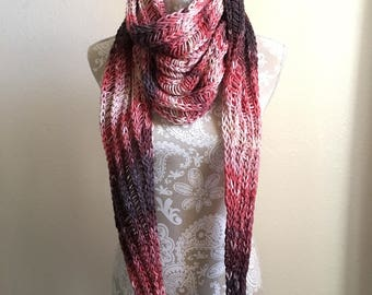 Crystal Mill Scarf  -- a loom knit pattern