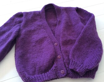 Girls cardigan to fit 2 year old.