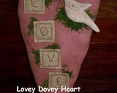 Primitive Lovey Dovey Heart E-Pattern/Instant Download