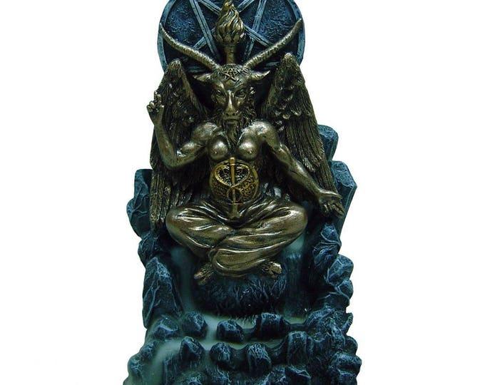 Baphomet Backflow Incense Burner - baphomet occult blackmagic witch lucifer gothic pagan altar sabbath