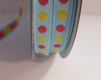 Stripe dots pink and yellow 10 mm
