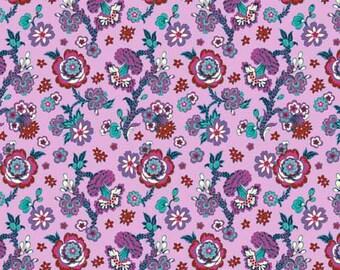 1/2 Yard Free Spirit Night Music Midnight Bloom in Lavender AB009 designed by Amy Butler