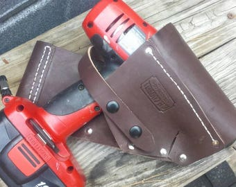 Handmade Leather Holster for Cordless Drill Perfect Gift for Dad, Husband Boyfriend Wife Girlfriend Christmas. Custom leather made in USA