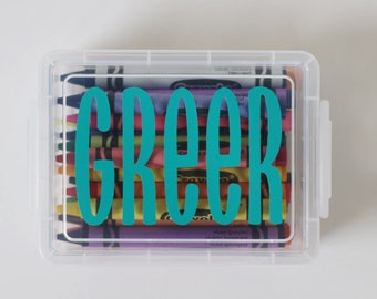 Personalized Crayon Case (with crayons!)