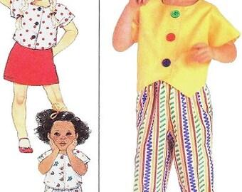 Girls Skirt, Pants, Shorts & Tops/Blouse Sewing Pattern UNCUT Simplicity 9639