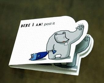 Kawaii Here I Am Bear Sticky Index Memo Pad
