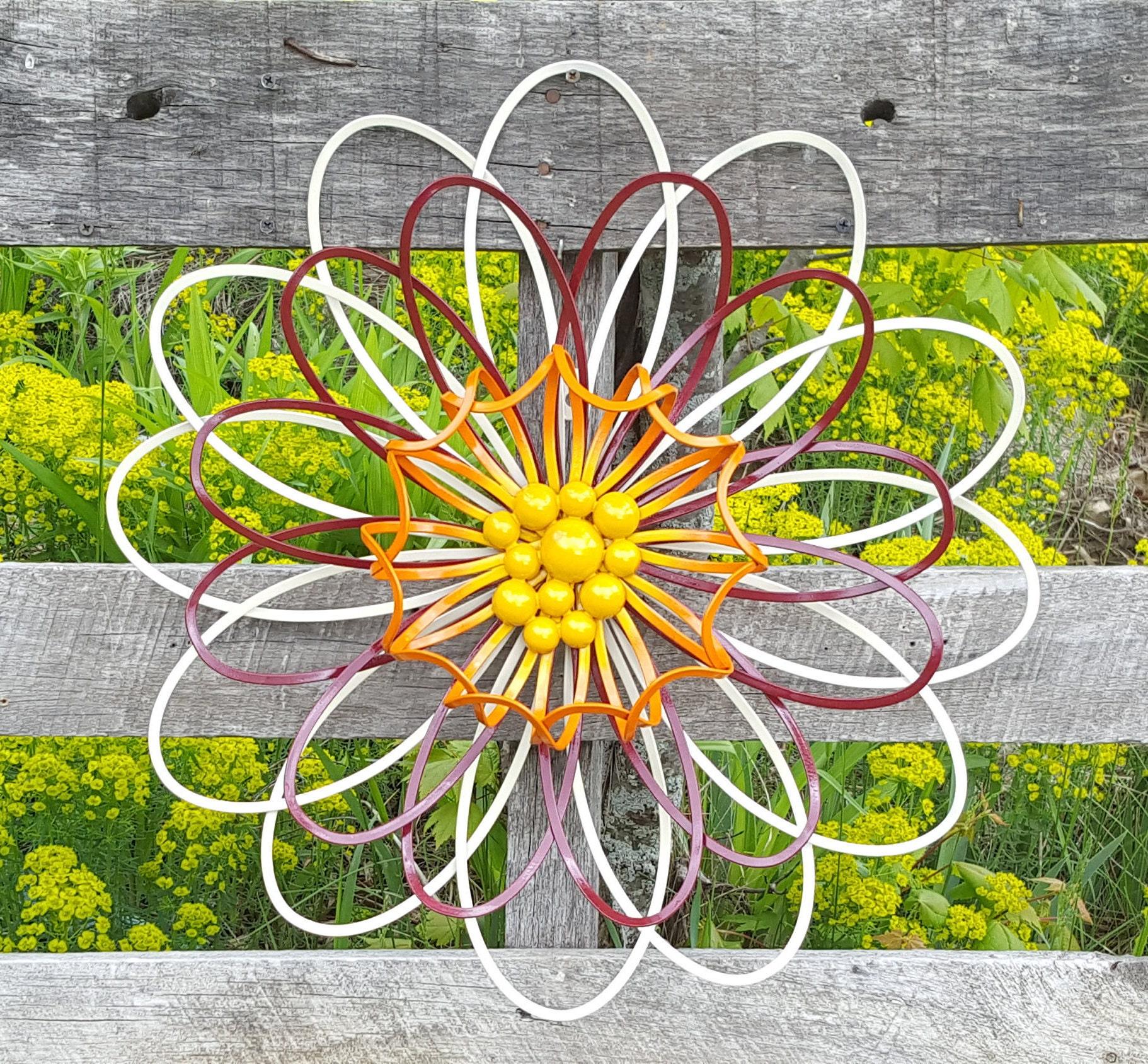 Large Metal Flower Wall Art/ Flower wall decor/ Garden Fence